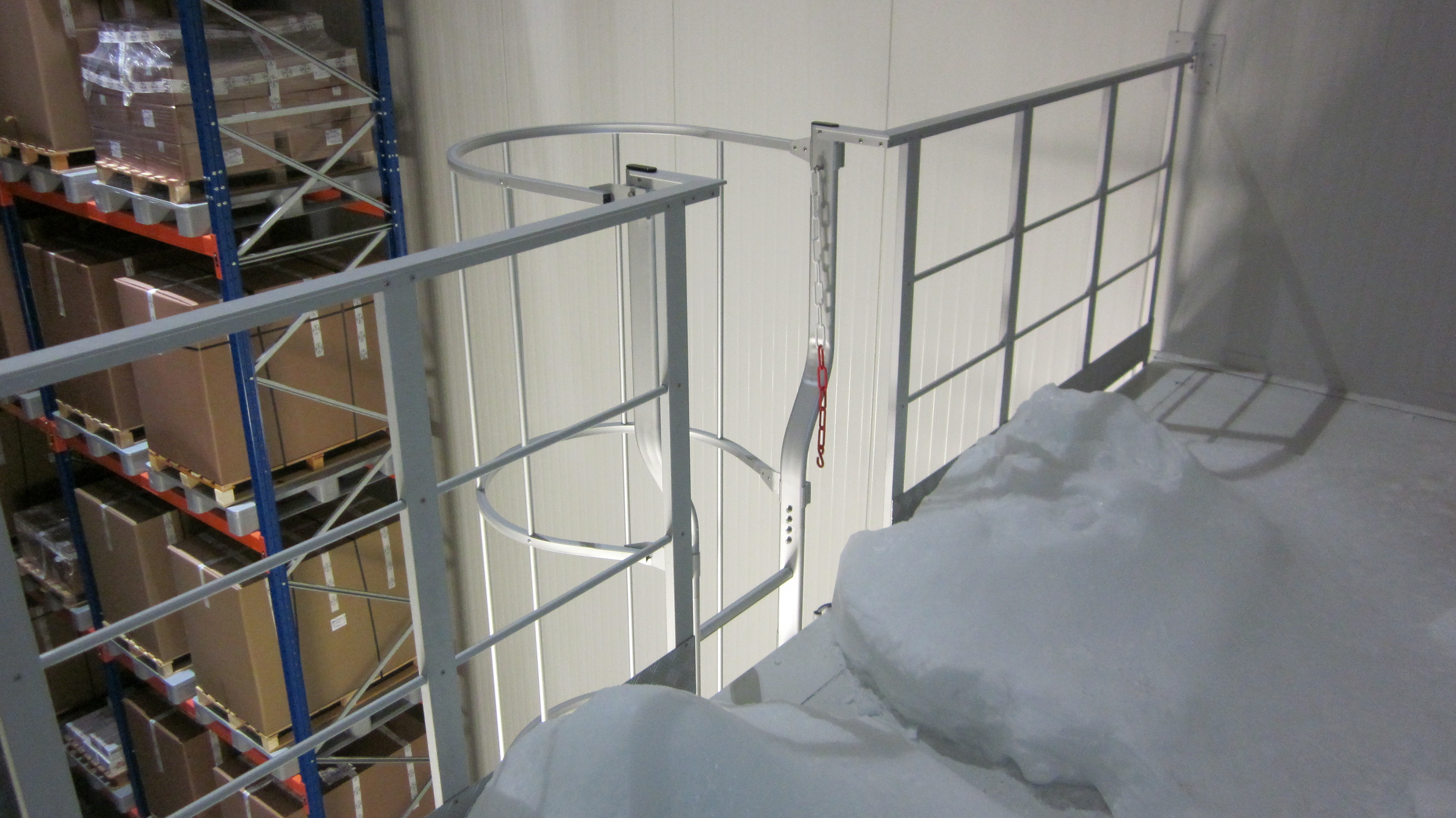 outlet of a cage ladder
